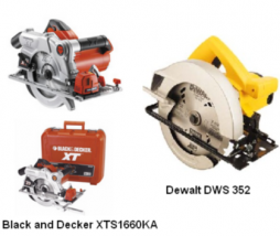 Sierras circulares Black and Decker y Dewalt