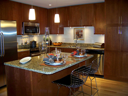 l shaped kitchen island designs with seating cocinas con isla central vivir hogar 9871