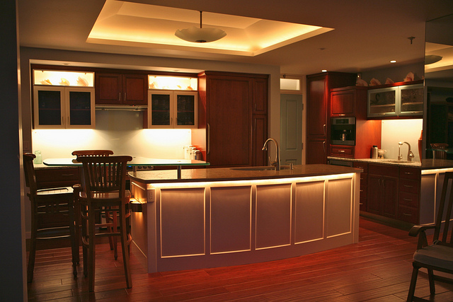 Led Strip Contemporary Kitchen Plinth Lighting